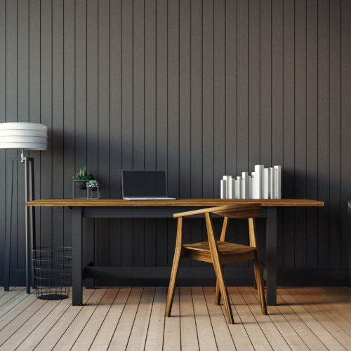 The modern interior of home office / 3D render image classical composition